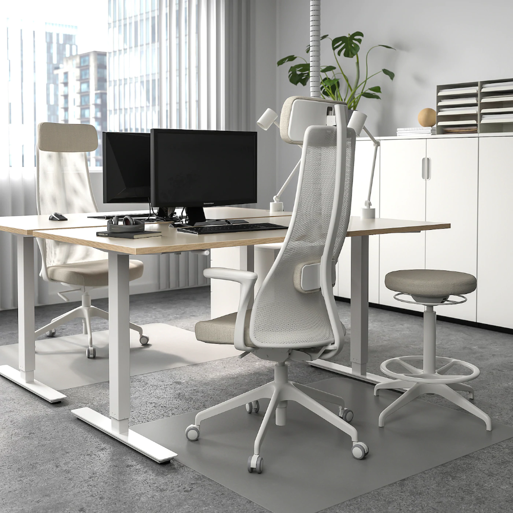 Skarsta Desk Sit Stand Beige White 63x31 1 2 Ikea In 2020 Ikea Standing Desk Home Office Design Ikea Work Desk