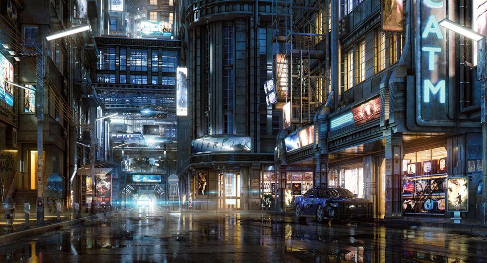 Light a night city scene in Blender