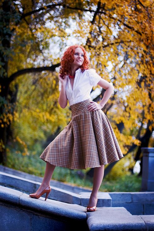 Осенняя пышная юбка
