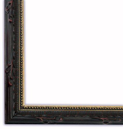 Amazon Com Narrow Ornate Black With Gold Lip Picture Frame Solid Wood 11x17 Black Picture Frames Picture Frames Lip Pictures