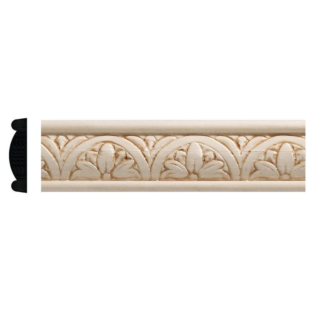 Ornamental Mouldings 5 X2f 16 In X 1 1 X2f 4 In X 96 In White Hardwood Embossed Floral Moulding Ornamental Mouldings Decorative Mouldings Decorative Trim