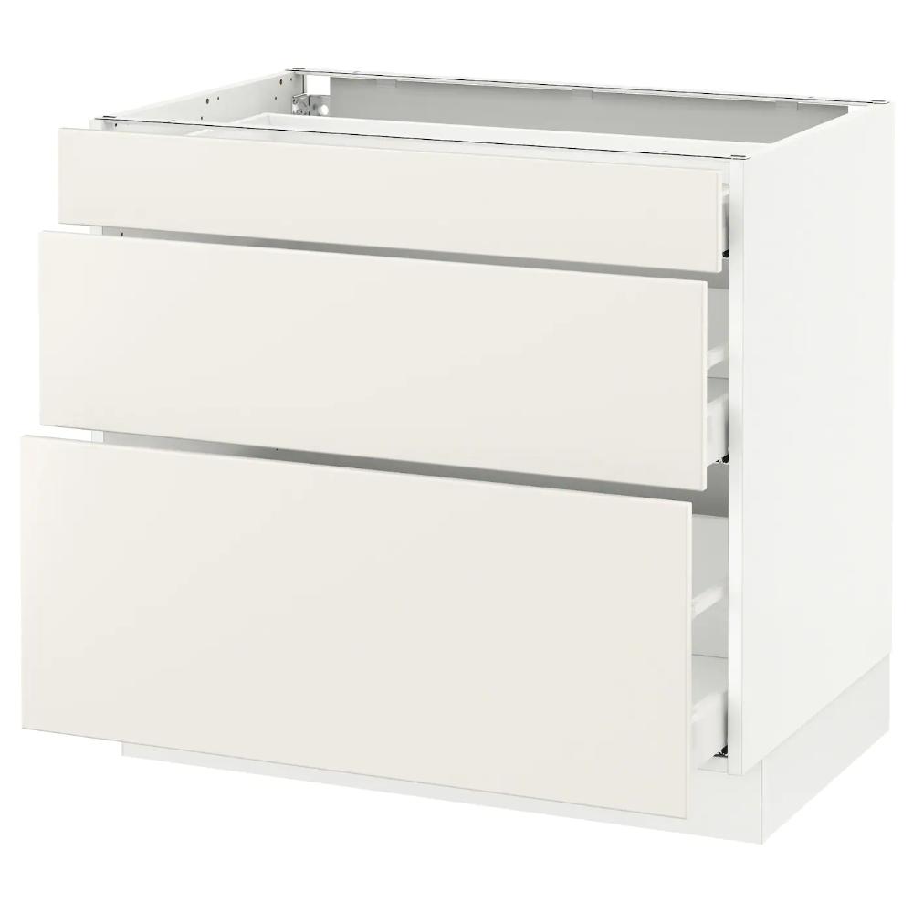 SEKTION Base with 3 drawers white Maximera