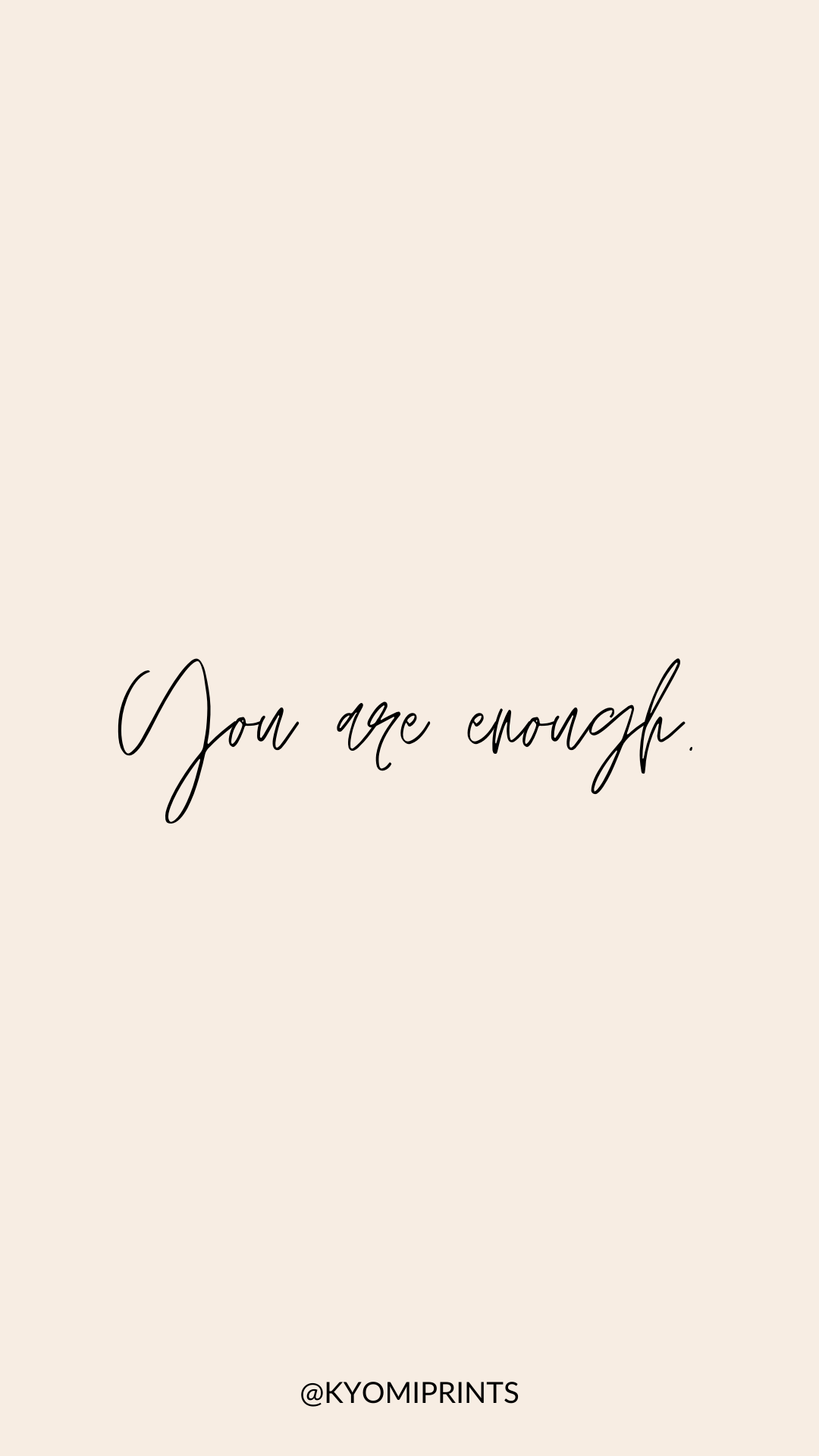 You Are Enough Wallpaper Free Wallpaper Iphone Wallpaper Pink Aesthetics Background Motivati Simple Iphone Wallpaper Minimalist Wallpaper Simple Wallpapers