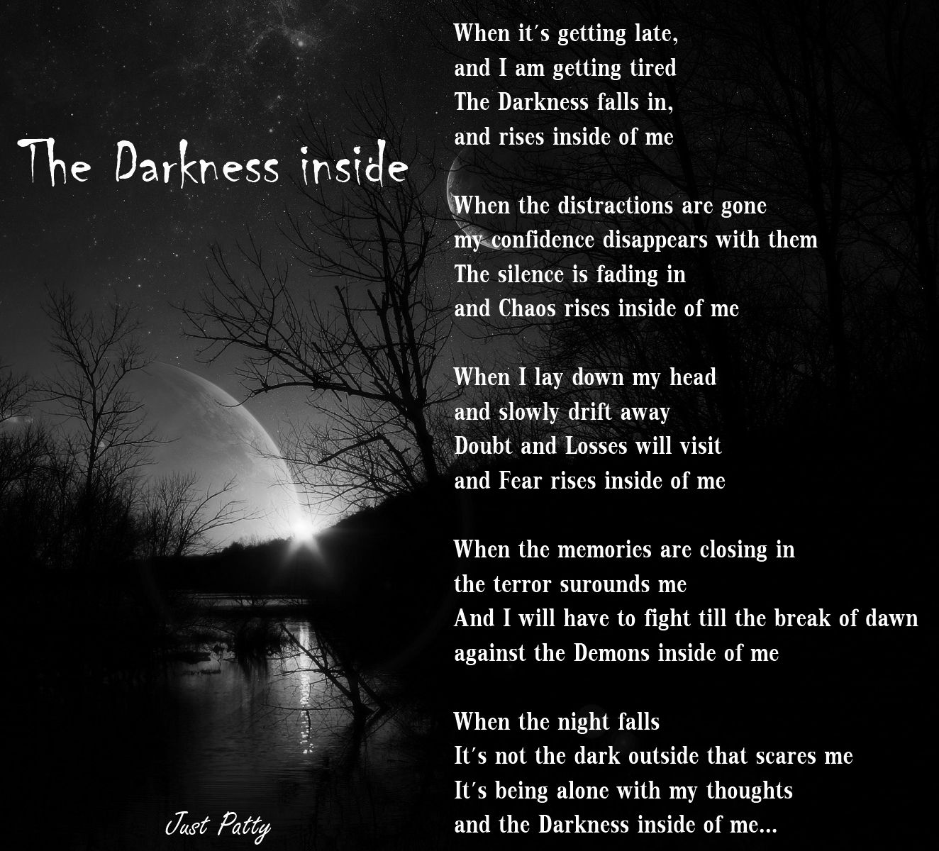 Dark Poems About Pain | Displaying 19> Images For - Dark Poems About
