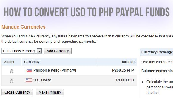 Usd Which Stands For The United States Dollar And Php Philippines