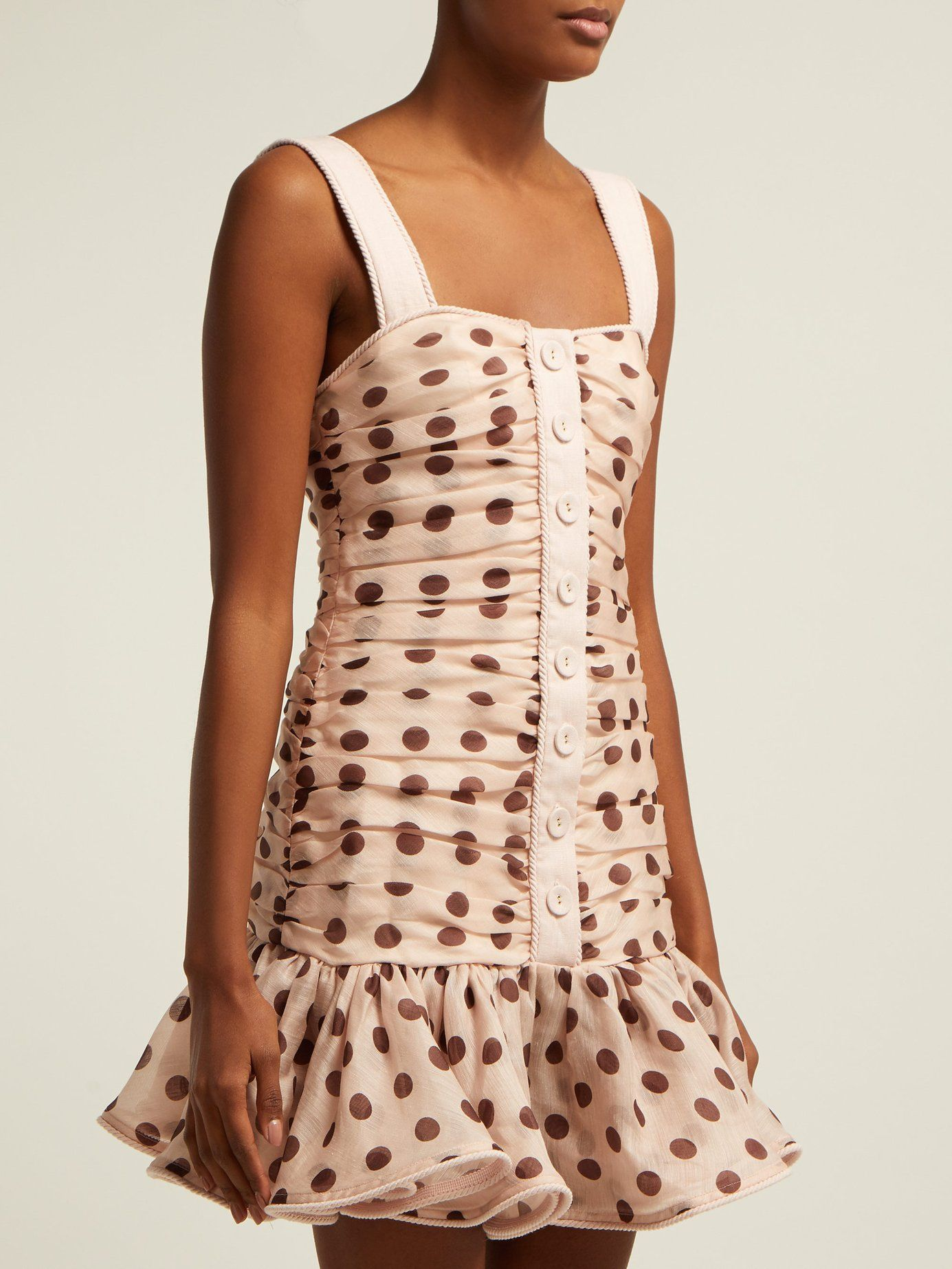 d46335f0f12f Corsage polka-dot linen-blend mini dress | Zimmermann | MATCHESFASHION.COM  UK