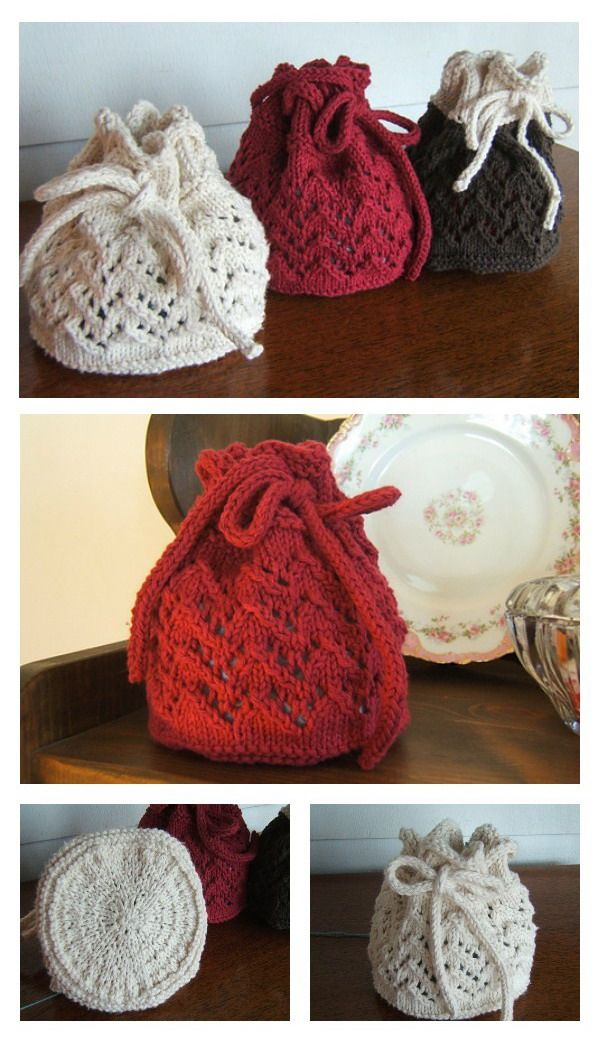 Holiday Gift Bag Free Knitting Pattern (With images ...