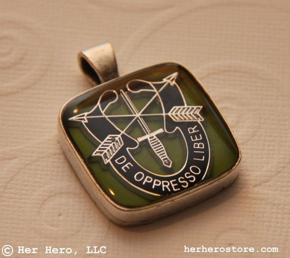 Custom Special Forces Lady Her Hero Lucite Pendant you by herhero