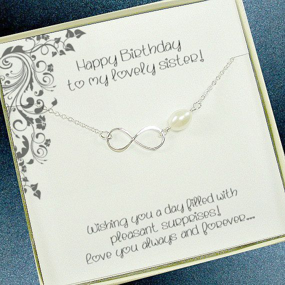 Sister Necklace Infinity Jewelry Birthday Gift In Law Unique Big Little