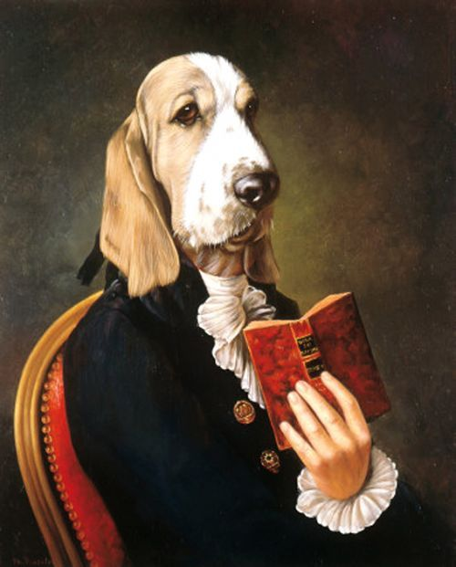 Amusing Portraits Of Aristocrats With Dogs Heads Designtaxi Com Dog Portraits Dog Paintings Dog Artist