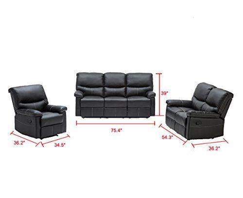 Enjoyable 3 Pcs Motion Sofa Loveseat Recliner Sofa Set Living Room Short Links Chair Design For Home Short Linksinfo