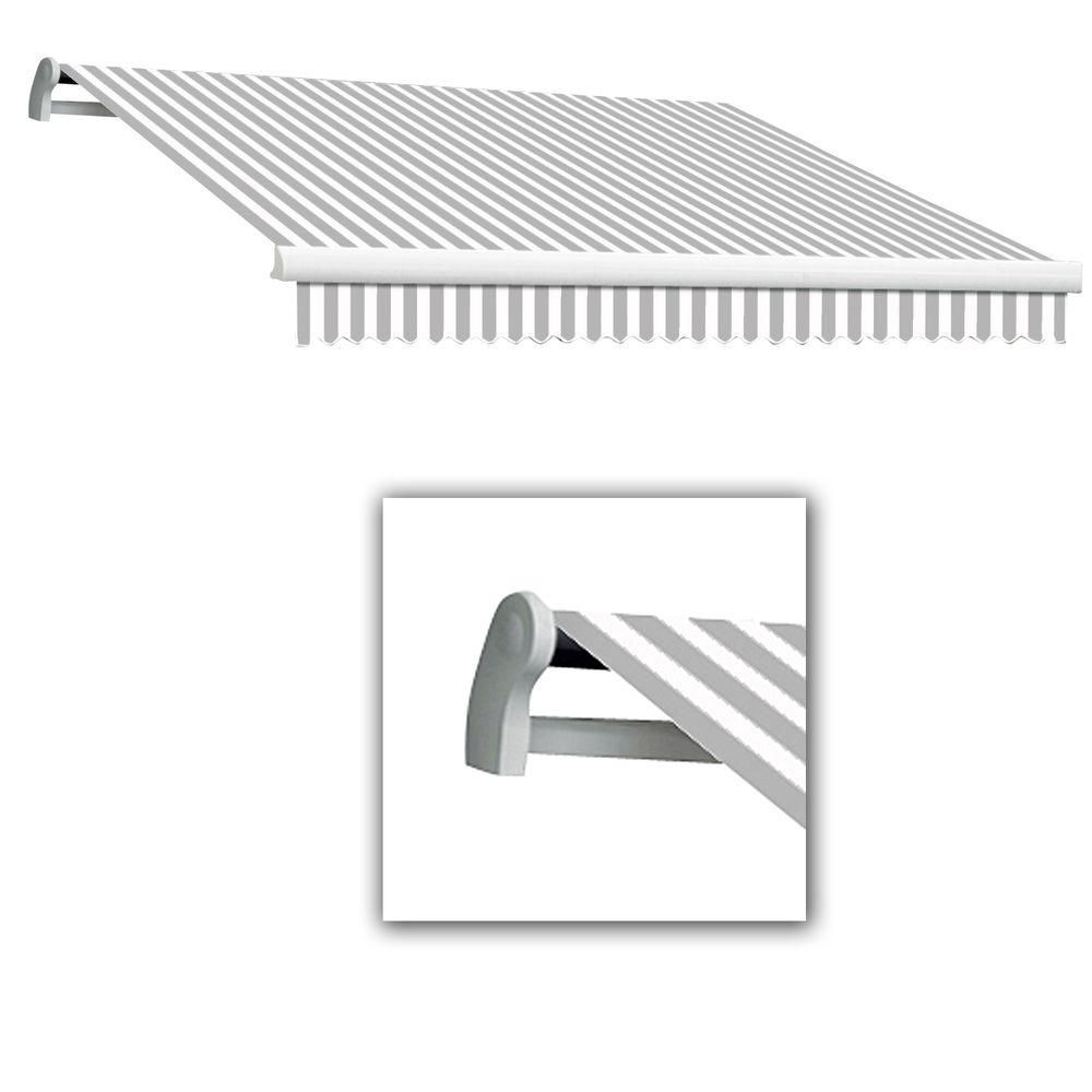 Awntech 12 Ft Maui Lx Manual Retractable Awning 120 In Projection Gray White