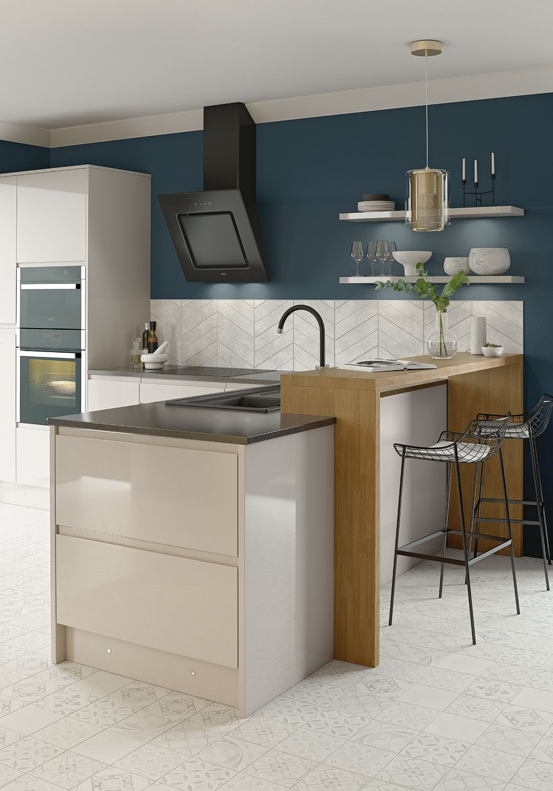 The Miller kit+kaboodle kitchen range from Homebase is clean and ...
