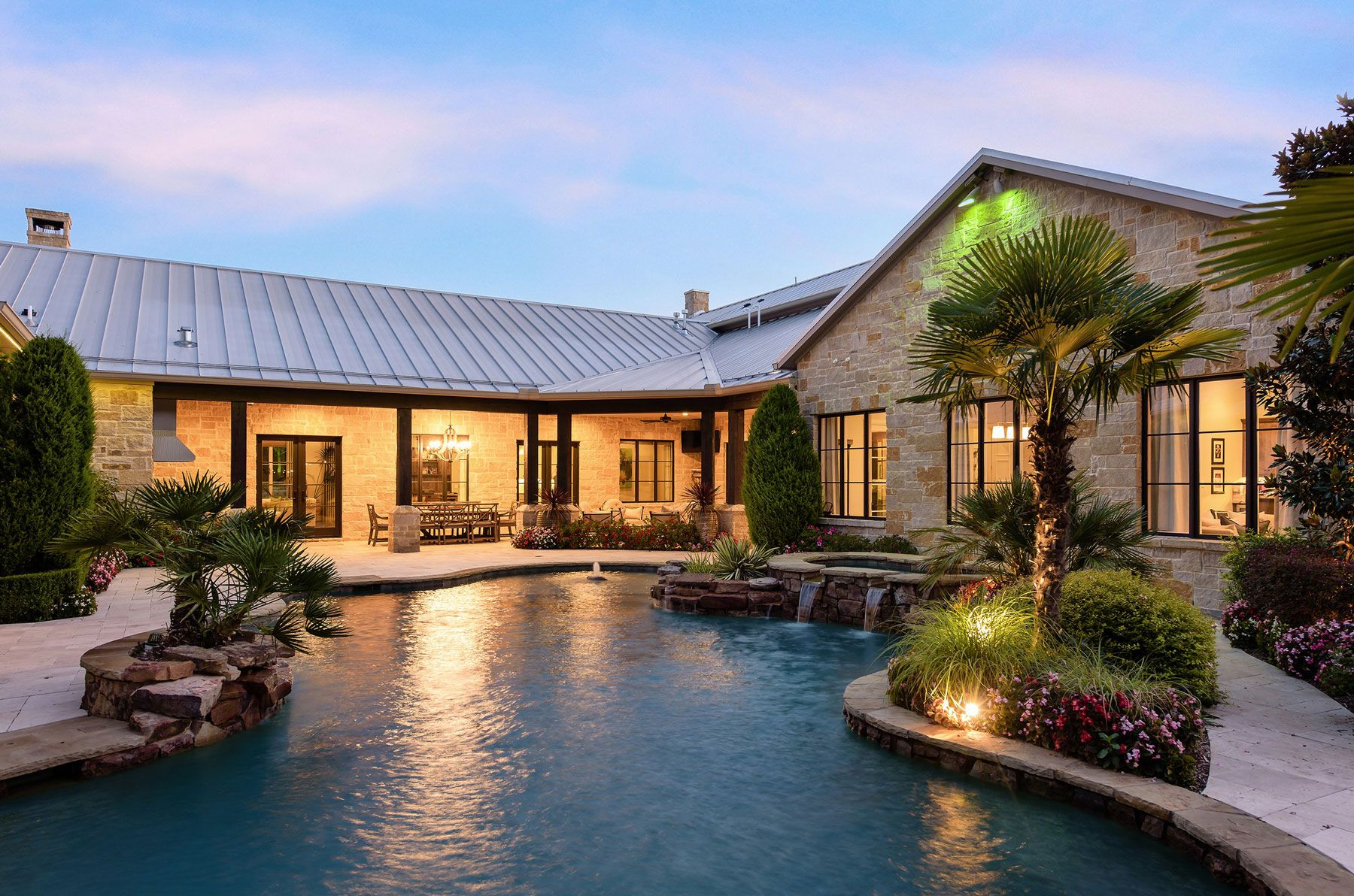 And You Won T Even Have To Leave Dallas Proper To Get There Texas Hill Country House Plans Country Home Exteriors Hill Country Homes