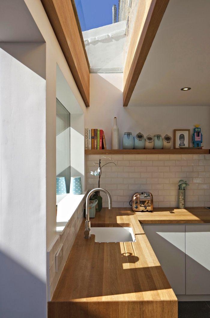 1001 mod les fascinants du duo cuisine blanche plan de - Quel plan de travail choisir pour une cuisine ...
