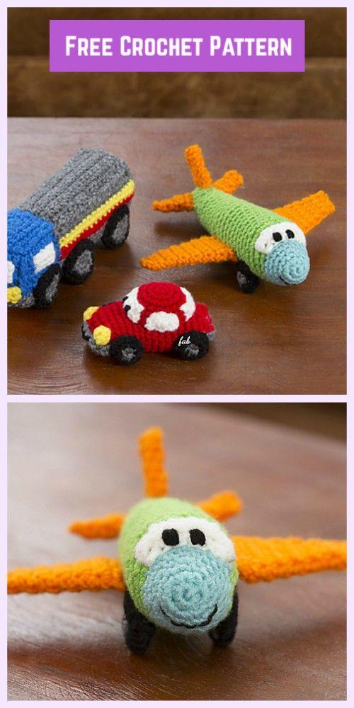 Amigurumi Car Toy Free Crochet Patterns | 1000x500