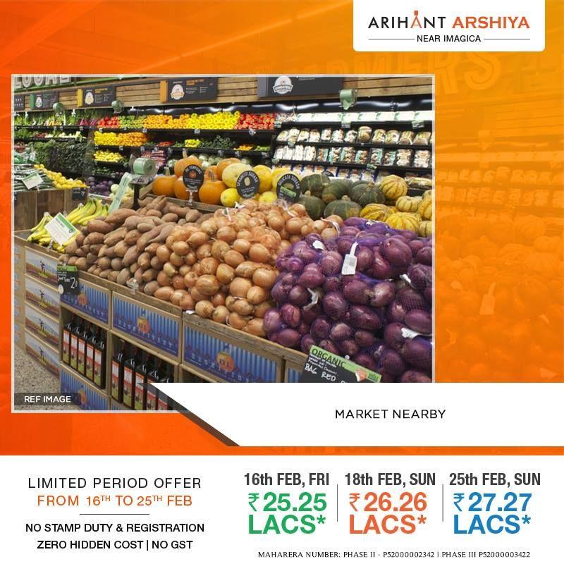 Market Nearby Arihant Arshiya Located Near Imagica Limited Period