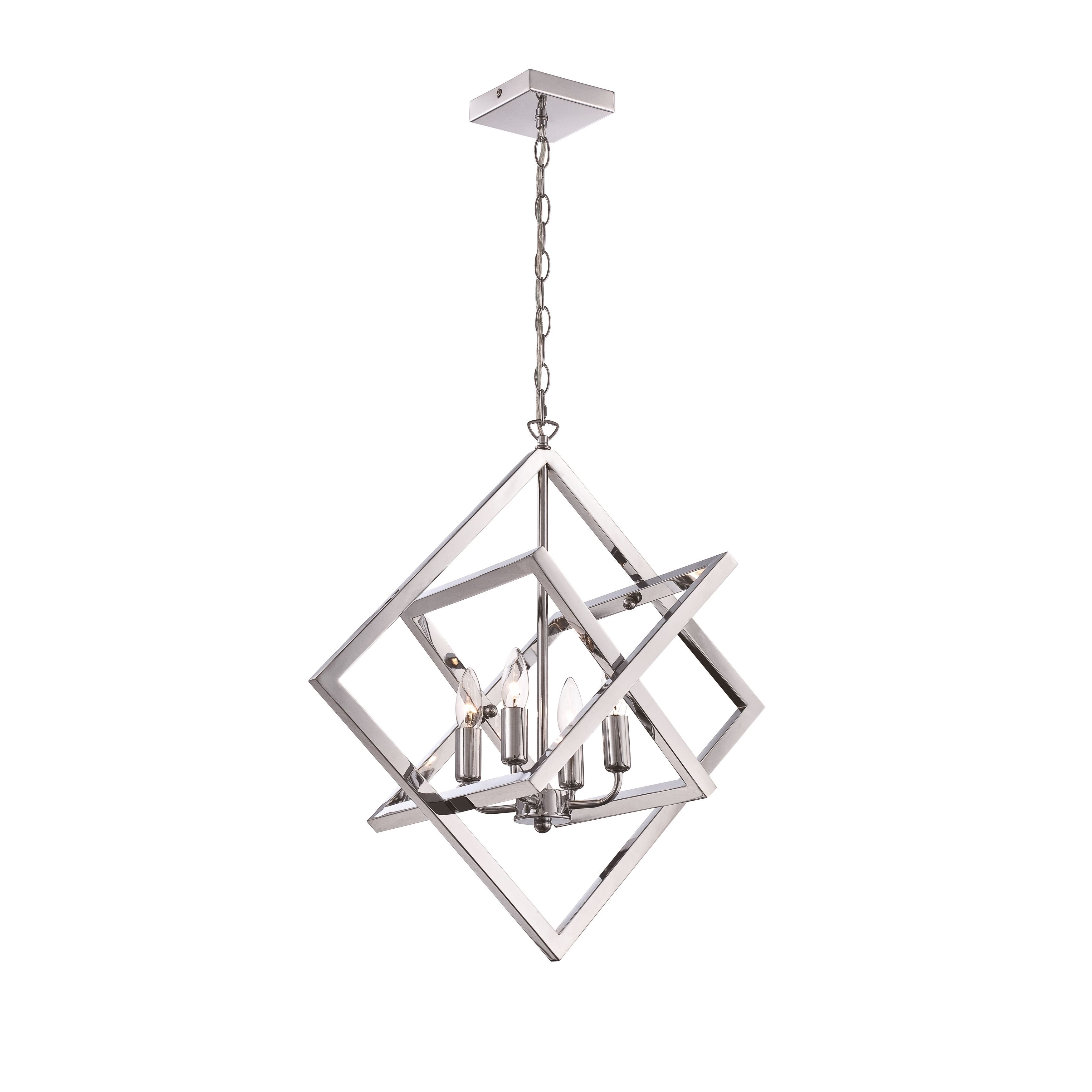 Olivia 4 Light Pendant Chrome Grey Lite Source Products T8 Fluorescent Fixture Wiring Diagrams Metal