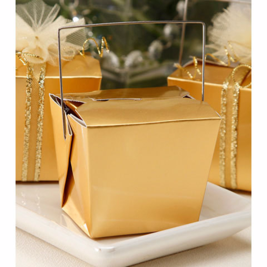 Decorative Food Boxes Gold Foil Take Out Boxes For Party Favors And More Set Of 5