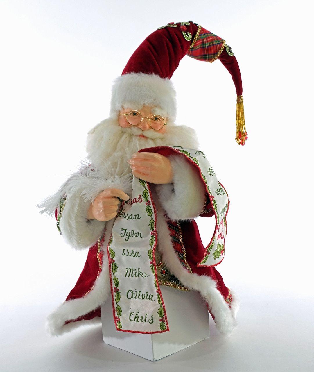 "Katherine's Collection 17"" Santa with List Christmas Tree Topper 28-928474   Christmas tree shop ..."