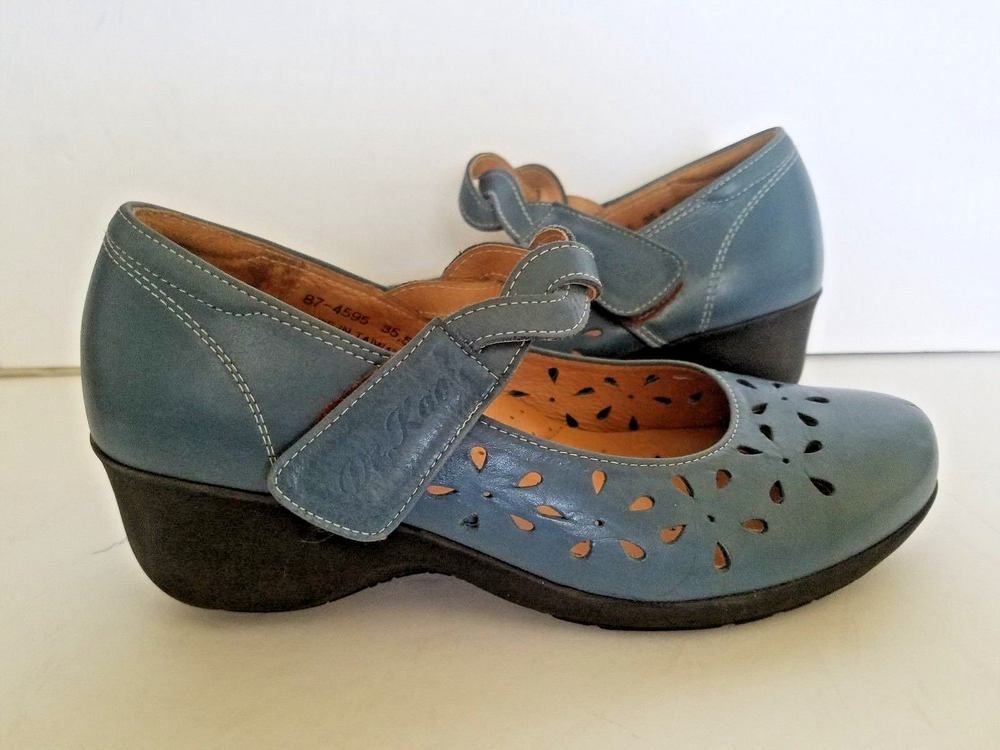 DK DR KAO Slate Blue w  Floral Cutouts Mary Jane Shoes Cross Over Straps sz  5.5  DRDKKAO  MaryJanes  any a4223eccf6b5