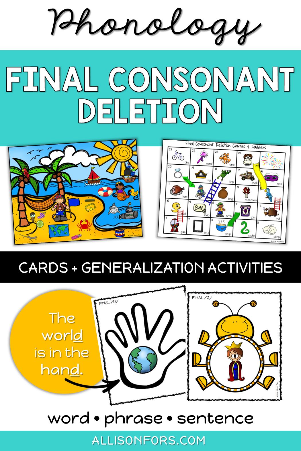 Phonology Final Consonant Deletion