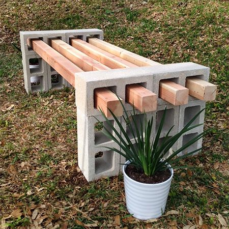 Making A Garden Bench Out Of Concrete Of Wood Provides A Place To Sit And  Relax