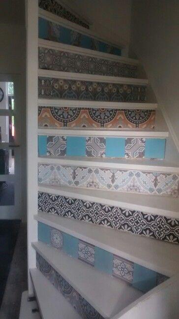Trap portugese tegels design nieuw huis pinterest for Stootborden trap maken