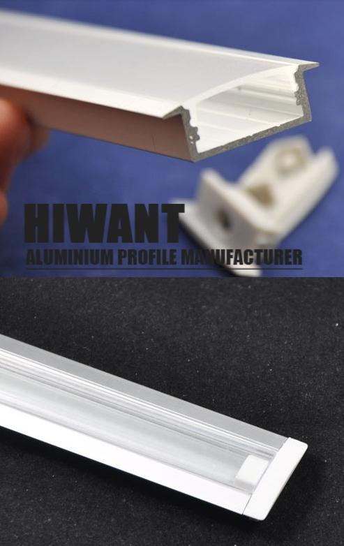 Hot selling anodized aluminium U and V channel profile light