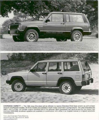 1984 Jeep Cherokee Chief Pioneer Factory Photo Aa977 J3xt6w Jeep