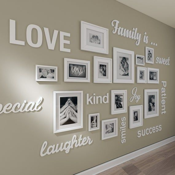 Gallery wall 3D quotes , gallery wall decor , gall