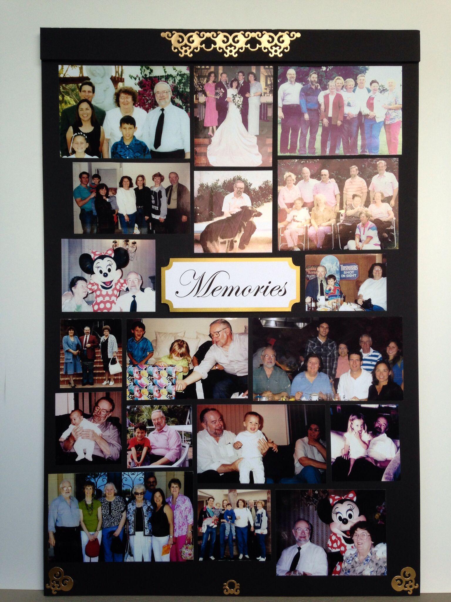 Memorial board Faux Project Portfolio Pinterest