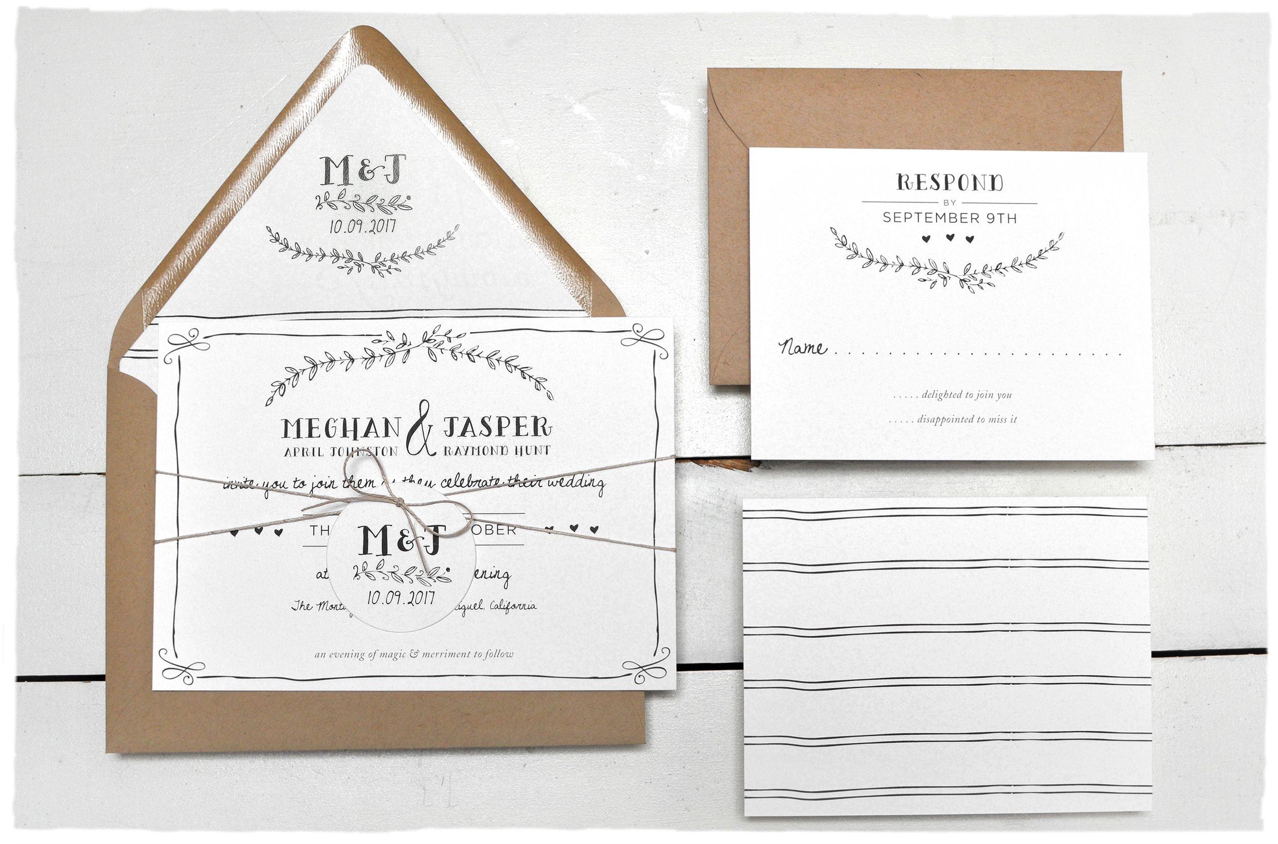Eternal Wedding Invitation suite | Invitation suite, Rustic outdoor ...