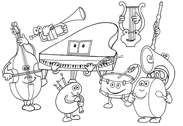 Dibujos De Orquestas Para Colorear Actividades Musicales Aula De Musica Dibujos De Instrumentos Musicales