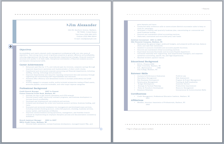 Credit Manager Resume Resume Job Pinterest Resume Sample