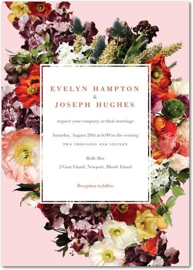 BHLDN invitations Feminine floral and foilstamped from www