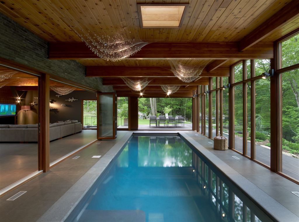 Hudson Valley Country House The Fractal Group Archinect Small Indoor Pool Indoor Swimming Pool Design Indoor Pool Design