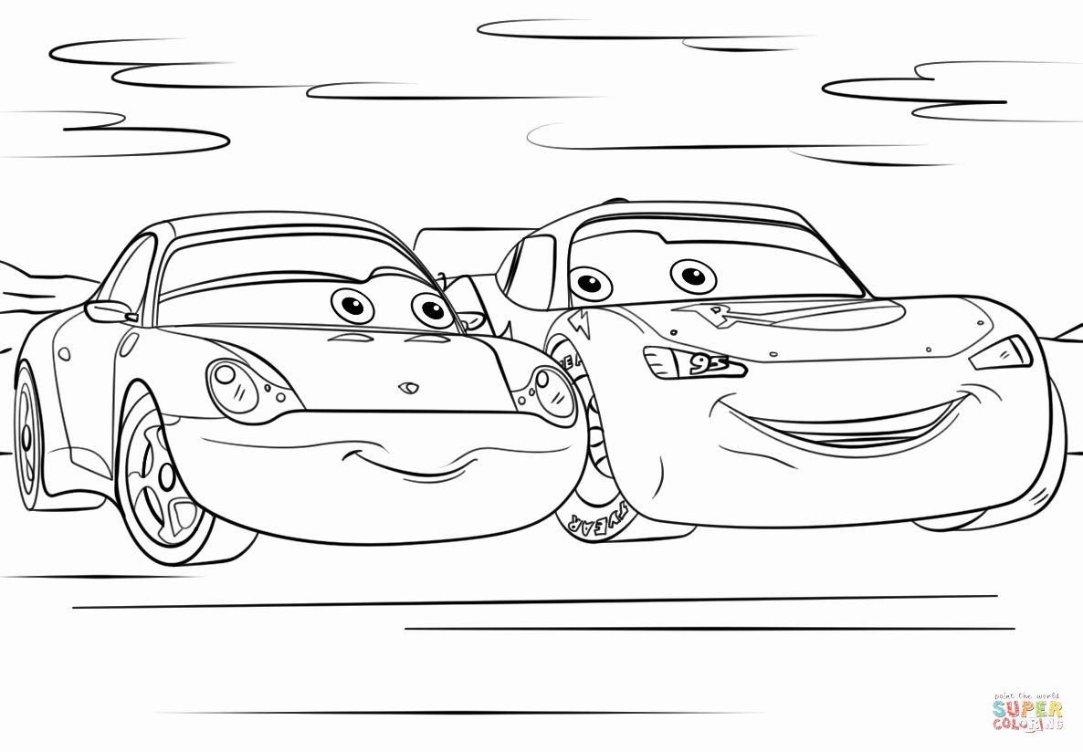 Lightning Mcqueen Coloring Page Free Inspirational Lightning Mcqueen And Sally From Cars 3 Coloring Pa In 2020 Cars Coloring Pages Coloring Pages Disney Coloring Pages