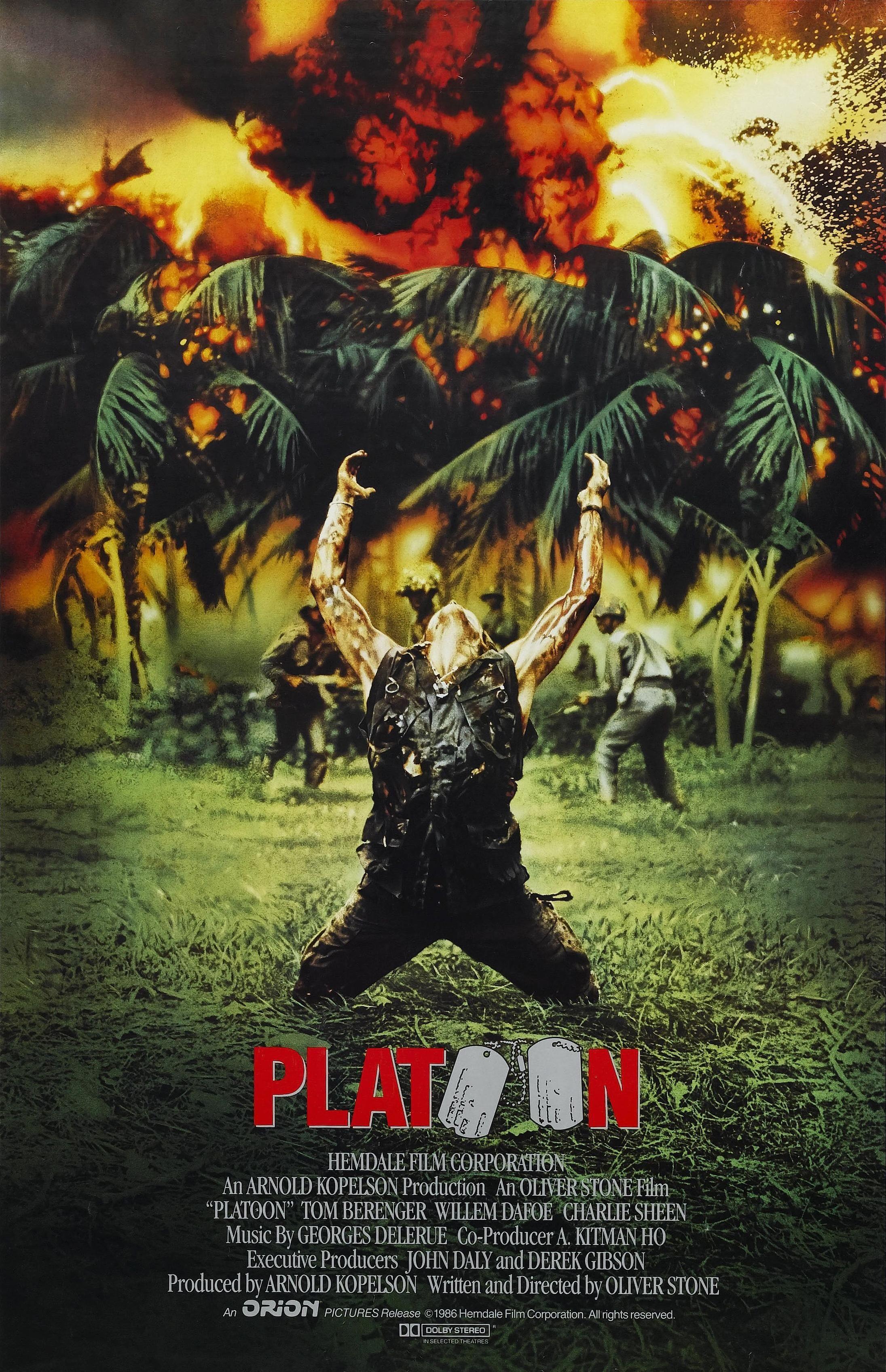 """Resultado de imagen para platoon 1986 movie poster"""""""