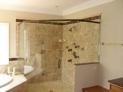 JHI Ceramic Tile Specialist - corner shower replacement idea For