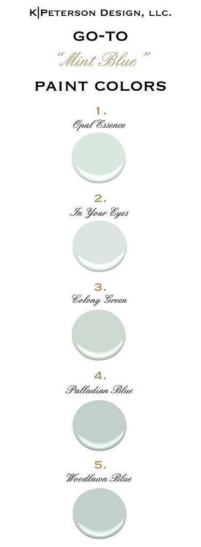 Mint Blue Paint Color Ideas Mint Blue Color Palette All Paint Colors Are From