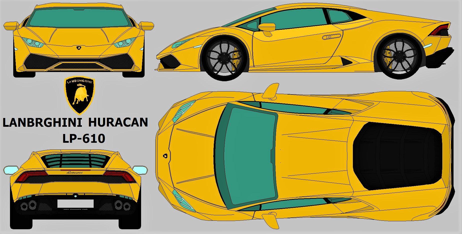 lamborghini huracan lp610-4 blueprint | Lamborghini | Pinterest ...