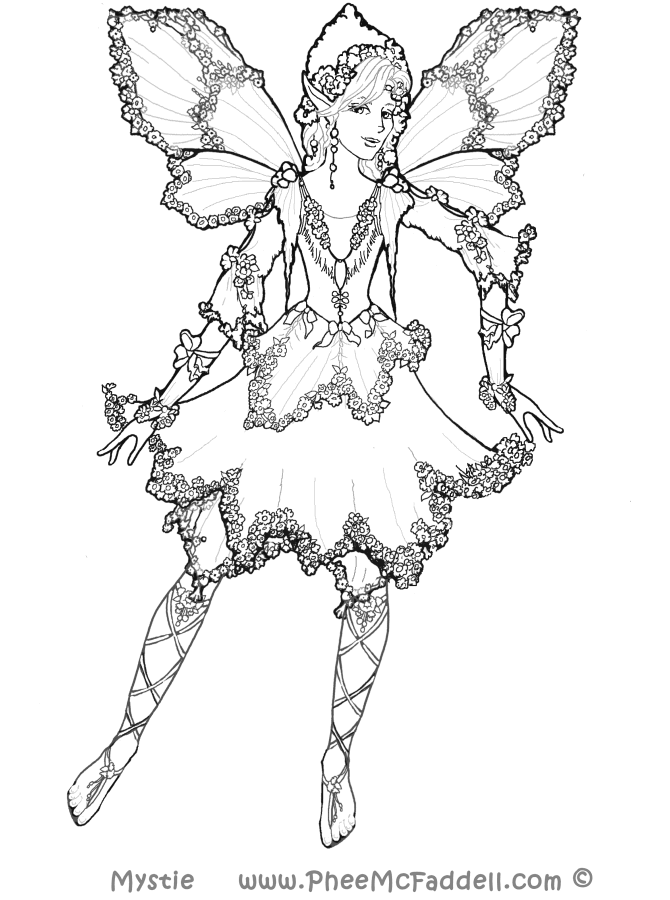 Phee Mcfaddell Loves The Wings Fairy Coloring Book Fairy Coloring Coloring Pages