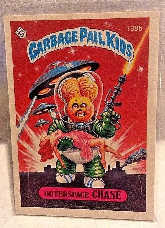 1986 Garbage Pail Kids Outerspace Chase 138b Os4 Original Series 4 Checklist Gpk Garbage Pail Kids Kids Series Kids