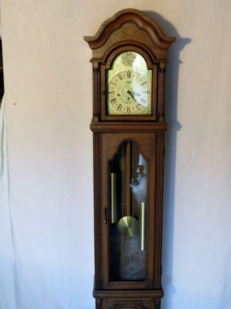Outstanding Pearl Grandfather Grandmother Clock W German Movement Chimes Key Grandmother Clock Clock Antique Wall Clock