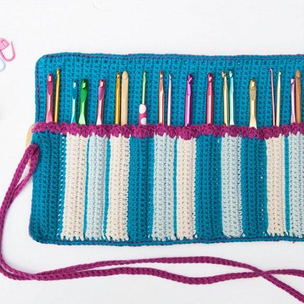 17 Ideas De Porta Agujas De Crochet Croché Patrón De Ganchillo Agujas Crochet