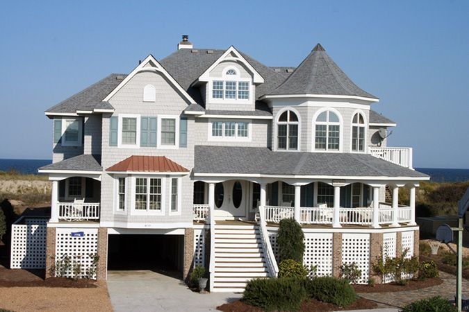 beach house rental outer banks nc blue lady pine island rh pinterest com
