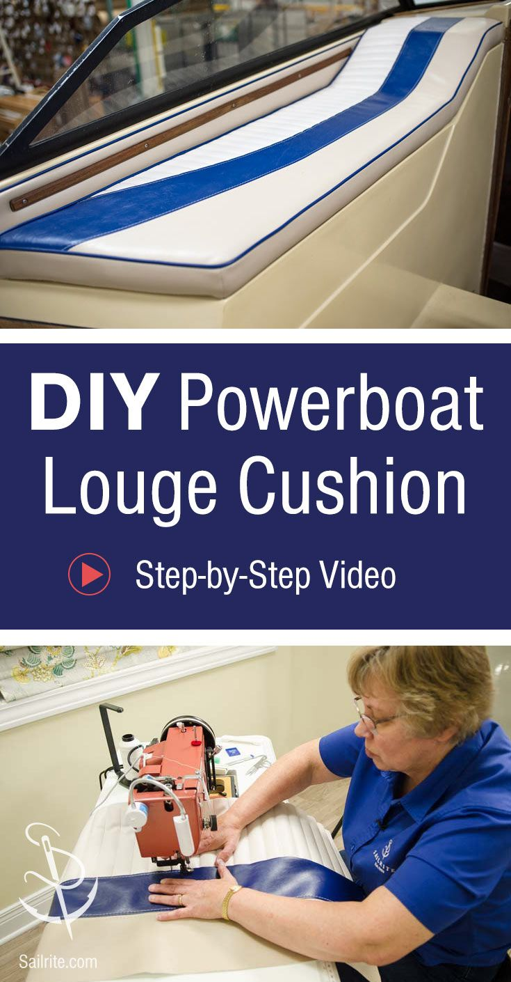 How To Make A Powerboat Lounge Cushion Video Work Pinterest Boat Wiring Job Check Out The Stunning Before After Of This Seat From Sailrites Project And Learn Diy New Upholstery