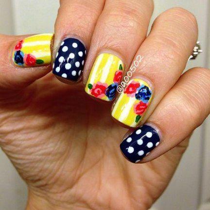 nails black yellow polka dots 34 ideas for 2019 nails