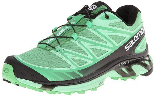 Salomon Women S Wings Pro Terrain Trail Running Shoe Wasabi Lucite Green Black Trail Running Shoes Running Running Shoes